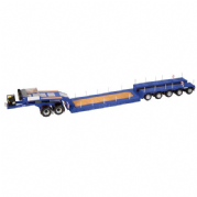NZG Nooteboom EURO-PX 5-AXLE + 2-AXLE Jeep Dolly Trailer Blue